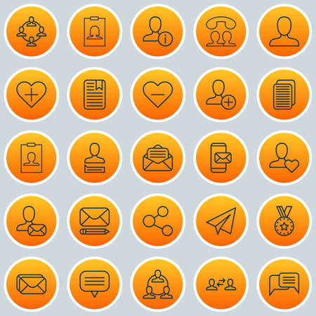 Network Icons Set. Collection Of Web Profile, Team Organisation, Mailbox And Other Elements 일러스트