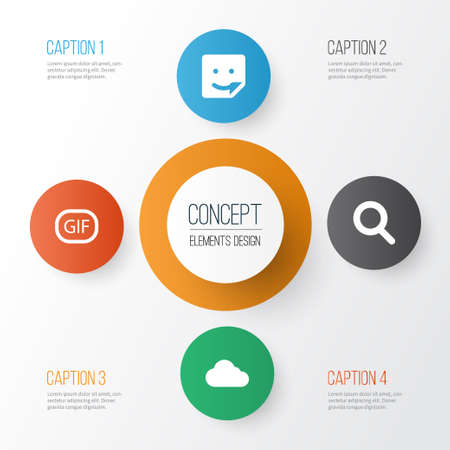 Internet icons set: collection of overcast, chat, magnifier and other elements