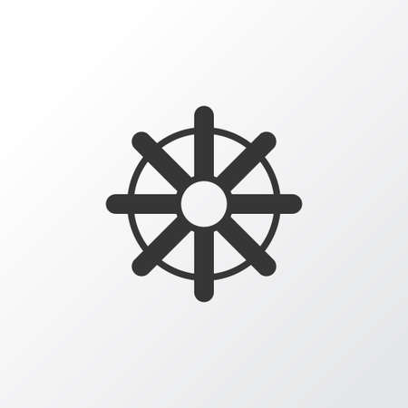 ruder: Premium Quality Isolated Steering Wheel Element In Trendy Style.  Rudder Icon Symbol.