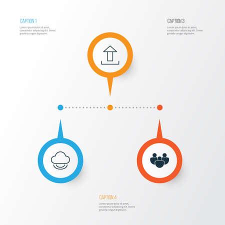 Internet icon set. Ilustração