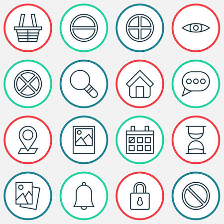 calendar icon: Web Icons Set. Collection Of Safeguard, Research, Refuse And Other Elements Illustration