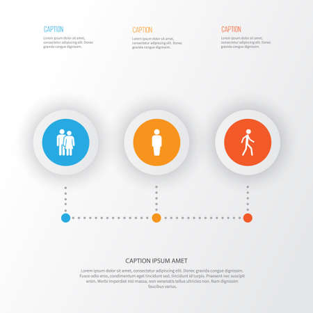 People Icons Set. Collection Of Jogging, Beloveds, Member And Other Elements Illustration