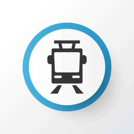 Premium Quality Isolated Streetcar Element In Trendy Style.  Tram Icon Symbol. Illustration