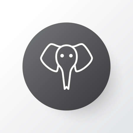 Premium Quality Isolated Trunked Animal Element In Trendy Style.  Elephant Icon Symbol.