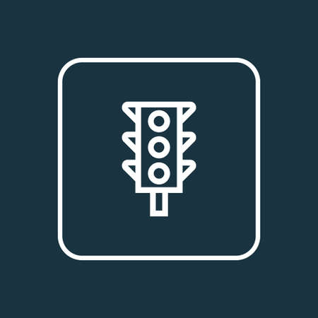 regulate: Premium Quality Isolated Traffic Light Element In Trendy Style.  Stoplight Outline Symbol.