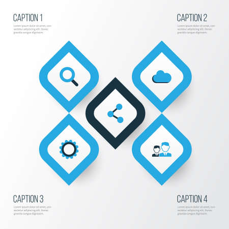 Social Colorful Icons Set. Collection Of Seek, Cogwheel, Friends And Other Elements