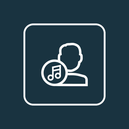 melodist: Artist Outline Symbol. Premium Quality Isolated Composer Element In Trendy Style. Illustration