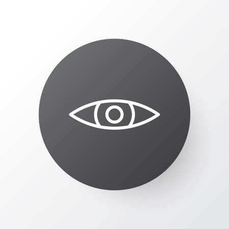 skim: Premium Quality Isolated Glance Element In Trendy Style.  Eyes Icon Symbol. Illustration