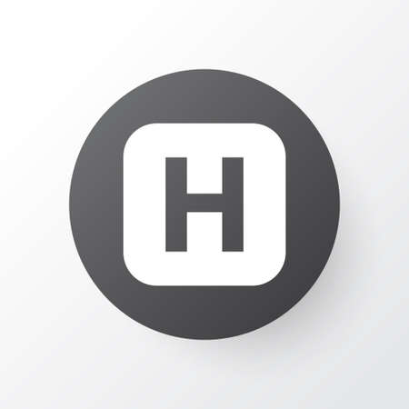 Infirmary Icon Symbol. Premium Quality Isolated Hospital Element In Trendy Style.