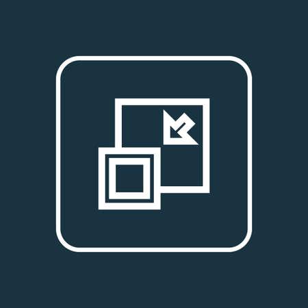 Minimizar el símbolo del esquema. La calidad superior aislada disminuye el elemento en estilo de moda. Foto de archivo - 84111875