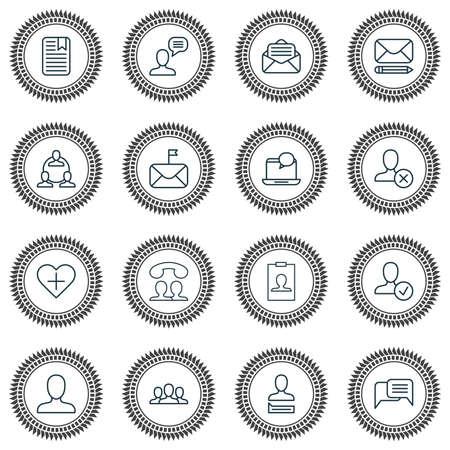 사회 아이콘을 설정합니다. 채팅, 통신, 중요 하 고 다른 요소의 컬렉션입니다. 또한 인스턴트, 채팅, 페이지와 같은 기호를 포함합니다.