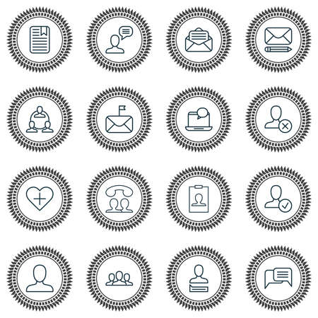 Social Icons Set. Collection Of Chatting, Communication, Significant And Other Elements. Also Includes Symbols Such As Instant, Chatting, Page.