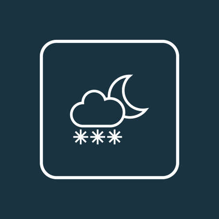 Premium Quality Isolated Snowfall  Element In Trendy Style.  Blizzard Outline Symbol.