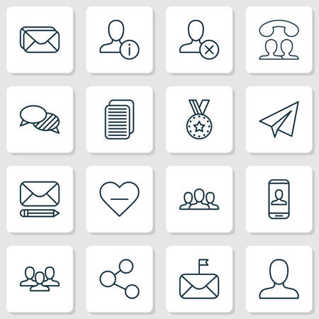 refuse: Communication Icons Set. Collection Of Personal Data, Society, Call And Other Elements