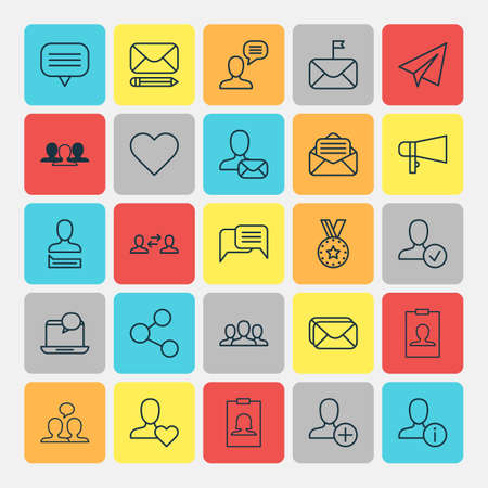 Network Icons Set. Collection Of Text Bubble, Communication, Personal Data And Other Elements