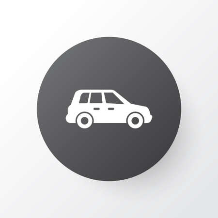 Premium Quality Isolated Car Element In Trendy Style.  Crossover Icon Symbol.