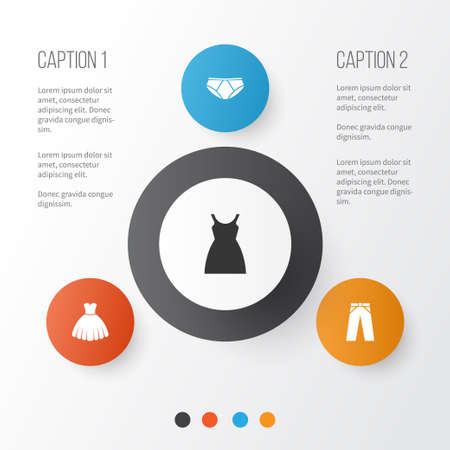 Garment vector Icons Set