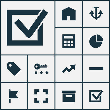 Interface Icons Set. Collection Of Target, Increase, Screenshot And Other Elements Ilustrace