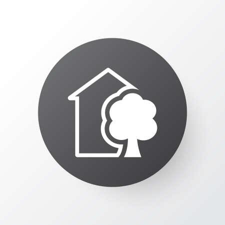 Eco Home Icon Symbol. Premium Quality Isolated House Element In Trendy Style. Иллюстрация