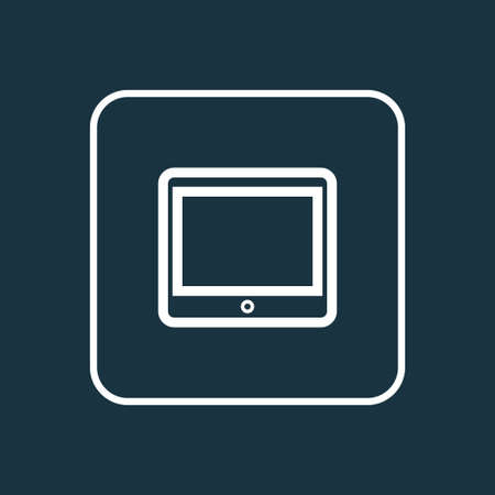palmtop: Tablet Outline Symbol. Premium Quality Isolated Palmtop Element In Trendy Style. Illustration