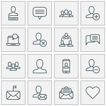 Network Icons Set. Collection Of Chatting, Mail, Teamwork And Other Elements. Also Includes Symbols Such As Private, Social, Important.