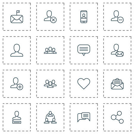 Communication Icons Set. Collection Of Read Message, Chatting, Teamwork And Other Elements. Also Includes Symbols Such As Delete, Social, People.