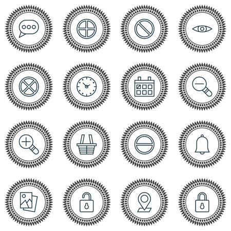 Icons Set. Collection Of Calendar, Obstacle, Pinpoint And Other Elements. Also Includes Symbols Such As Add, Plus, Block.
