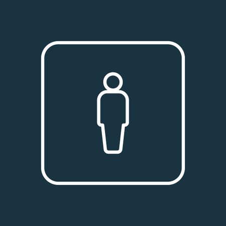 클라이언트 개요 기호. 트렌디 한 스타일의 프리미엄 품질 고립 된 사용자 요소.