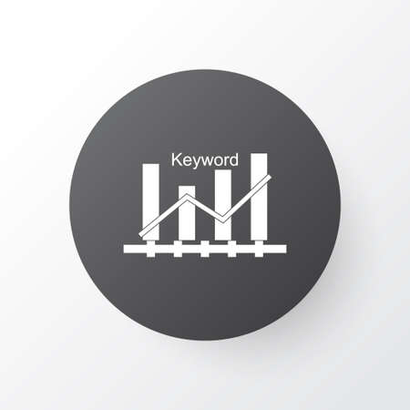 keyword: Premium Quality Isolated Keyword Optimisation Element In Trendy Style.  Keyword Ranking Icon Symbol.