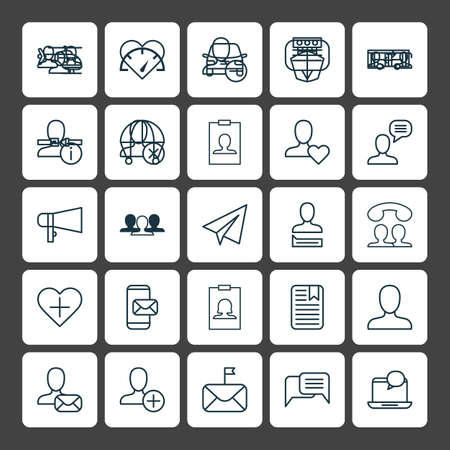 Network Icons Set. Collection Of Remove, Chatting, Personal Data And Other Elements. Also Includes Symbols Such As People, Loudspeaker, Mobile.