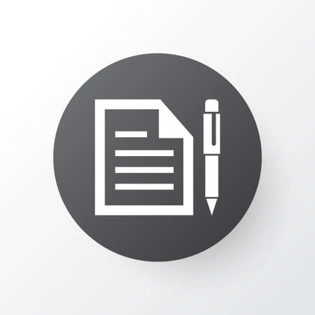 nib: Premium Quality Isolated Contract Element In Trendy Style.  Agreement Icon Symbol.  Illustration