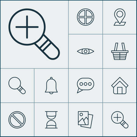 Network Icons Set. Collection Of Positive, Obstacle, Glance And Other Elements. Also Includes Symbols Such As Photo, Obstacle, Speech.