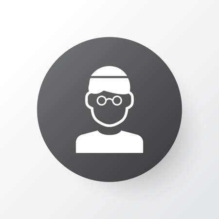 Premium Quality Isolated Male Element In Trendy Style.  Mullah Icon Symbol.