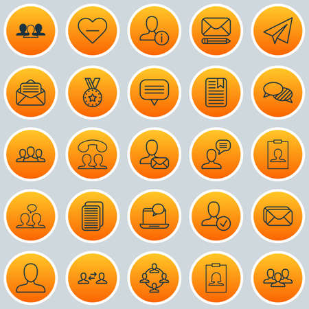 Communication Icons Set. Collection Of Edit, Connect, Web Profile And Other Elements. Also Includes Symbols Such As Reward, Talk, Postbox.