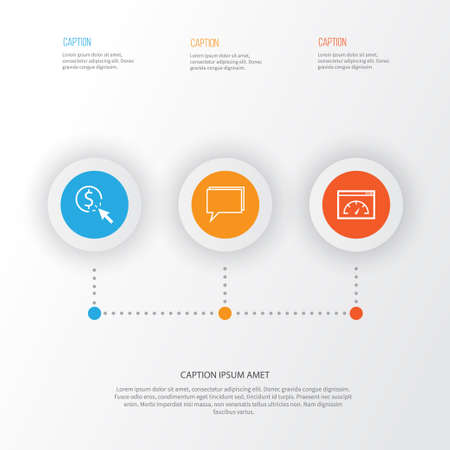 Advertising Icons Set. Collection Of PPC, Loading Speed, Conference And Other Elements. Also Includes Symbols Such As Per, Pay, Speed.