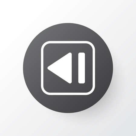 Previous Music Icon Symbol. Stock Vector - 85133805