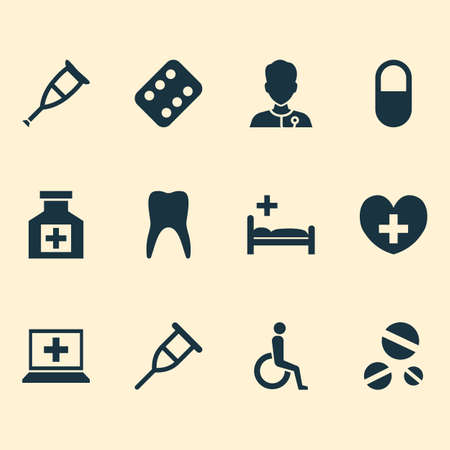 polyclinic: Drug Icons Set. Collection Of Polyclinic, Healer, Spike And Other Elements. Also Includes Symbols Such As Illness, Medicament, Nurse.