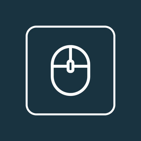 computerized: Computer Mouse Outline Symbol. Premium Quality Isolated Control Device Element In Trendy Style. Illustration