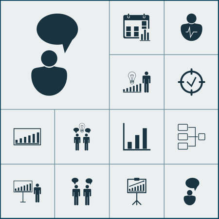 Board Icons Set. Collection Of System Structure, Co-Working, Company Statistics And Other Elements