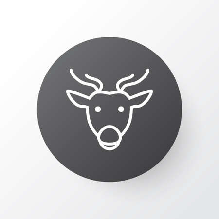 Premium Quality Isolated Moose Element In Trendy Style.  Deer Icon Symbol.