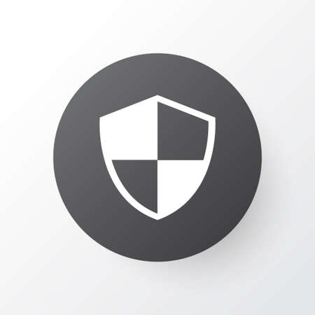 Premium Quality Isolated Defense Element In Trendy Style.  Shield Icon Symbol.