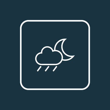 Drizzle Outline Symbol. Premium Quality Isolated Rainstorm Element In Trendy Style.