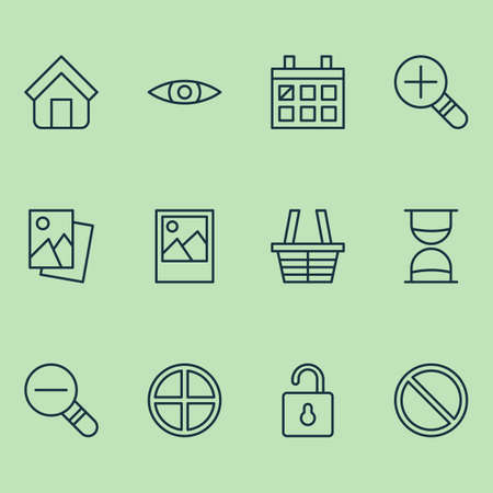 private security: Network Icons Set. Collection Of Obstacle, Positive, Increase Loup And Other Elements. Also Includes Symbols Such As Hourglass, Block, Denied.