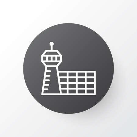Aerodrome Icon Symbol. Premium Quality Isolated Airport Building Element In Trendy Style. Иллюстрация