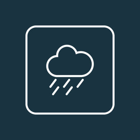 Rainstorm Outline Symbol. Premium Quality Isolated Drizzle  Element In Trendy Style. Illustration