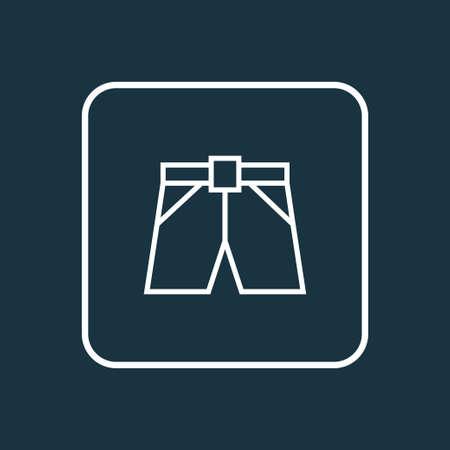 Shorts Outline Symbol. Élément de Briefs isolé de qualité Premium dans un style branché. Banque d'images - 85534049