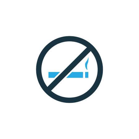Rook geen kleurrijk pictogramsymbool