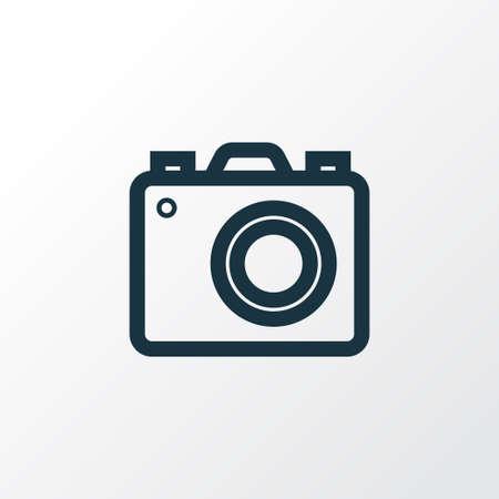 Premiumkwaliteit geïsoleerd camera-element in trendy stijl. Foto apparaat overzicht symbool. Stockfoto - 85980331
