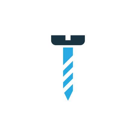 handtools: Premium Quality Isolated Screw Element In Trendy Style.  Bolt Colorful Icon Symbol.