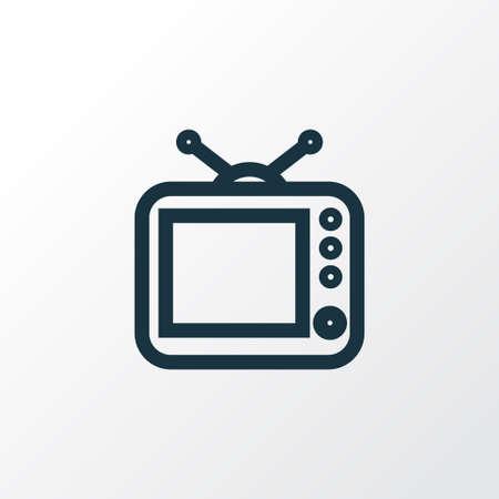 Premium Quality Isolated Television Element In Trendy Style. Ilustração